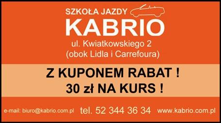 Kupon rabatowy - 30 zł na Kurs prawa jazdy