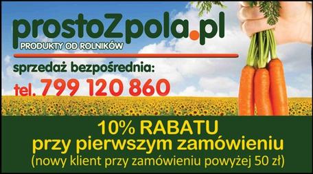 Kupon -10% na zakupy zdrowej żywności na www.prostoZpola.pl