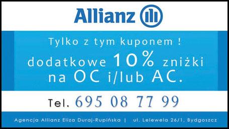 Kupon rabatowy - dodatkowe 10% zniżki OC/AC